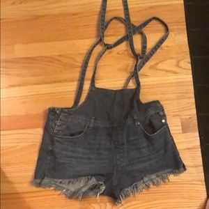 Free people side button overall